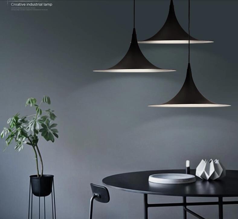 Nordic Semi Fog Morup Pendant Lamp American Country Vintage Hanglamp  Restaurant Pendant Lighting Fixtures Brief Bar Hotel Lamps