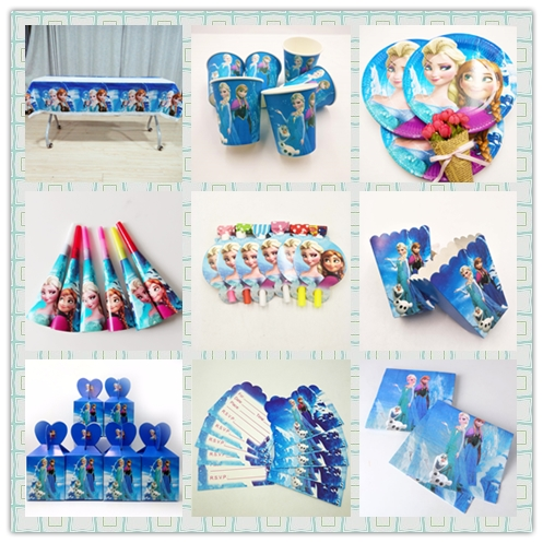 DISNEY Frozen Freezing Anna Elsa Snow Queen Movie Baby Birthday Party Decorations Kids Girl Party Supplies Party Decoration Set каталог party kids не танцуй