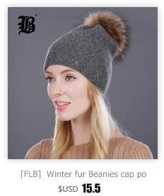 [FLB] Wholesale Real Mink Fur Pom Poms Knitted Hat Ball Beanies Winter Hat For Women Girl 'S Wool Hat Cotton Skullies Female Cap 74