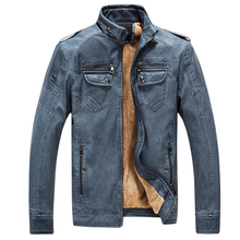 LASPERAL Winter Jacket Men Stand Collar Motorcycle Leather Jackets