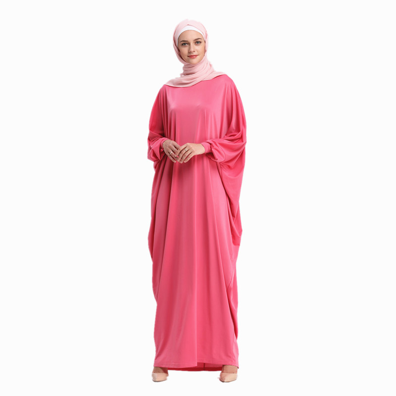Women's Muslim Hijab Dress Arab Women Loose Abayas Long Bat Sleeve Arabic Dubai Turkish Kaftan Female Clothing