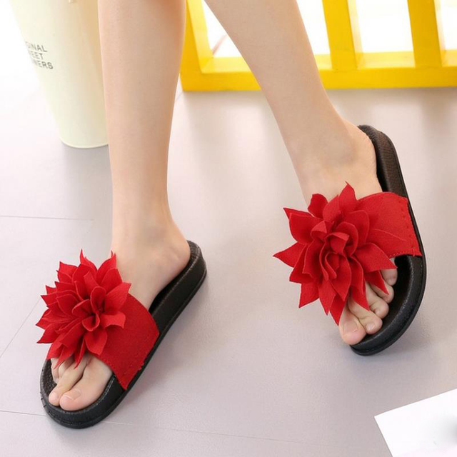 New Fashion Women Shoes Women Sandals Summer Shoes Flat Vintage Flowers High Quality Casual Party Holidays Footwear Size 35-39