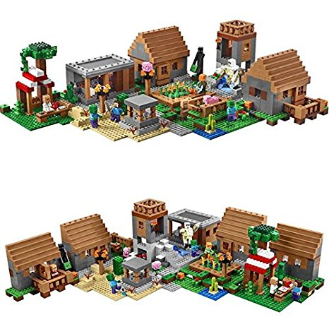 Lepin 18008 My worlds series The Village model Building Blocks Classic compatible bricks 21128 toy for children Birthday gift dhl lepin 18032 2932 pcs the mountain cave my worlds model building kit blocks bricks children toys clone21137 in stock