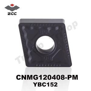 ZCC.CT YBC152 CNMG120408-PM for steel semi-finishing turning inserts plate cnc lathe cutting tool CNMG432 FREE SHIPPING
