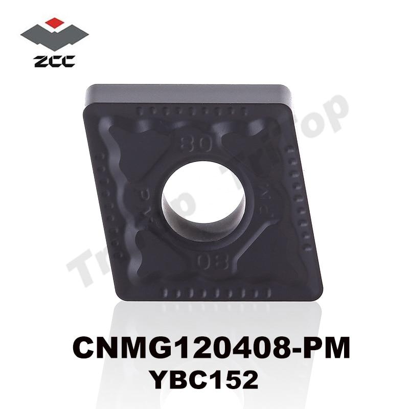 ZCC.CT YBC152 CNMG120408-PM plieniniams pusiau apdailos tekinimo įdėklams CNC tekinimo staklių pjovimo įrankis CNMG432 NEMOKAMAS PRISTATYMAS