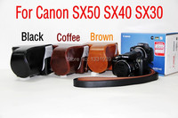 High Quality New Camera Leather Case Bag Cover For Canon SX50 In Brown Black Coffee Model