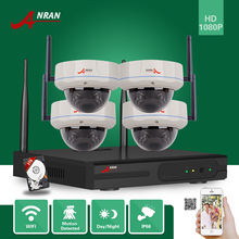 ANRAN 1080P HDMI 8CH NVR 2TB HDD HD Vandal-Proof Dome WIFI IP Camera Security 30 IR Wireless Home Video Surveillance CCTV System