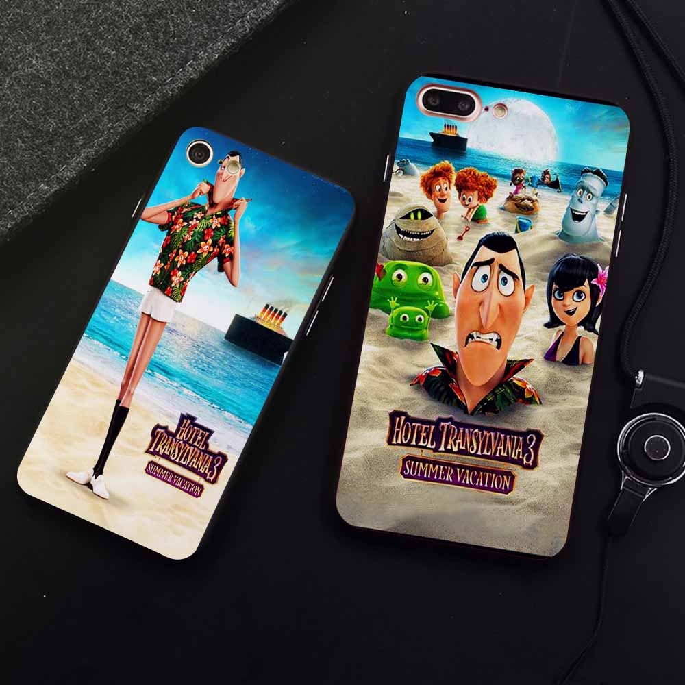 DK Hotel Transylvania 3 Funny phone case for Samsung s8 s9plus S6 S7Edge S5 Black Cover for iPhone 6 6s 7 8plus 5 X XS XR XSMax in Half wrapped Cases from Cellphones Telecommunications