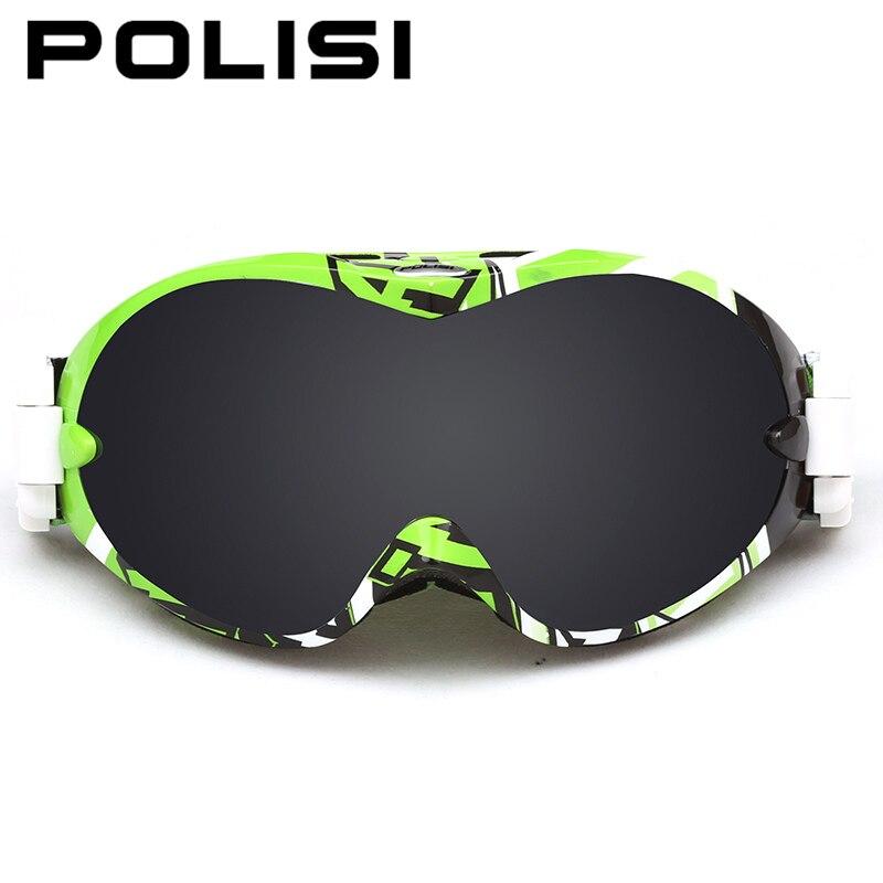 POLISI Professional Ski Goggles Double Layer Snowboard Goggles  Anti-Fog UV Protection Gafas Snowboard Motocross Goggles от Aliexpress INT