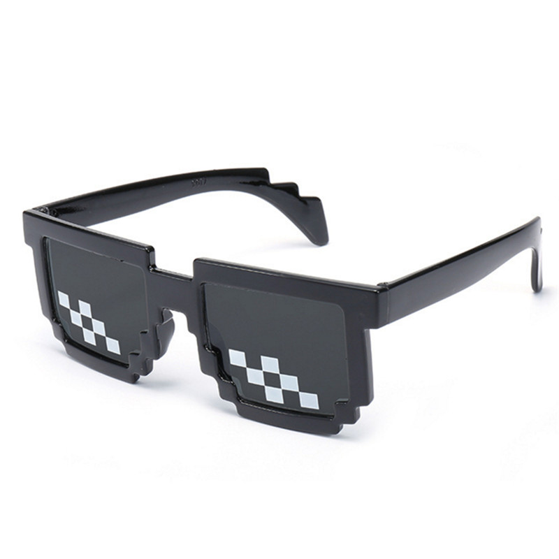 Wear Cool Glasses 8 Bit MLG Pixelated Sunglasses Men Women Brand Thug Life Party Eyeglasses Mosaic Vintage Eyewear in Men 39 s Sunglasses from Apparel Accessories