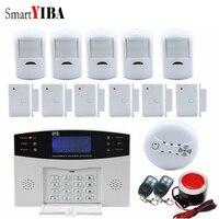 Smartyiba Беспроводной GSM сигнализации Системы дома Охранной Сигнализации 99 Беспроводной зоны TFT Цвет Дисплей огонь Детекторы дыма Сенсор
