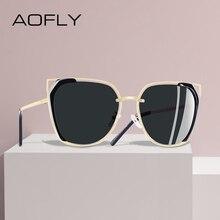 AOFLY diseño de marca de lujo Vintage gafas de sol de las mujeres polarizado señoras gafas de sol para mujer hueco femenino gafas para conducir