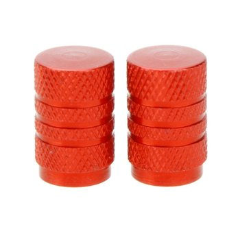 Alloy Tire valve cap, bicycle, motorcycles and cars with Schrader valve, 2 set, Red