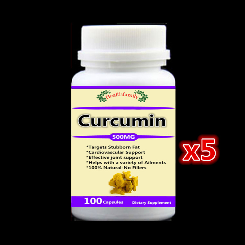 5 bottles Curcumin Turmeric Root Capsules Targets Stubborn Fat Cardiovascular Support Effective joint support,free shipping now foods candida support 90 veg capsules free shipping