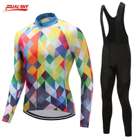 Genuine Fualruy 2018 Pro Long Sleeve Cycling Jersey Sets Breathable 9D Padded Sportswear Mountain Bicycle Bike
