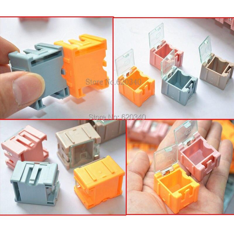 новый & подлинная высокое качество 50 шт. SMD монтажа электронных компонентов мини ящик для хранения высокое качество и практические украшения недосягаемых чехол
