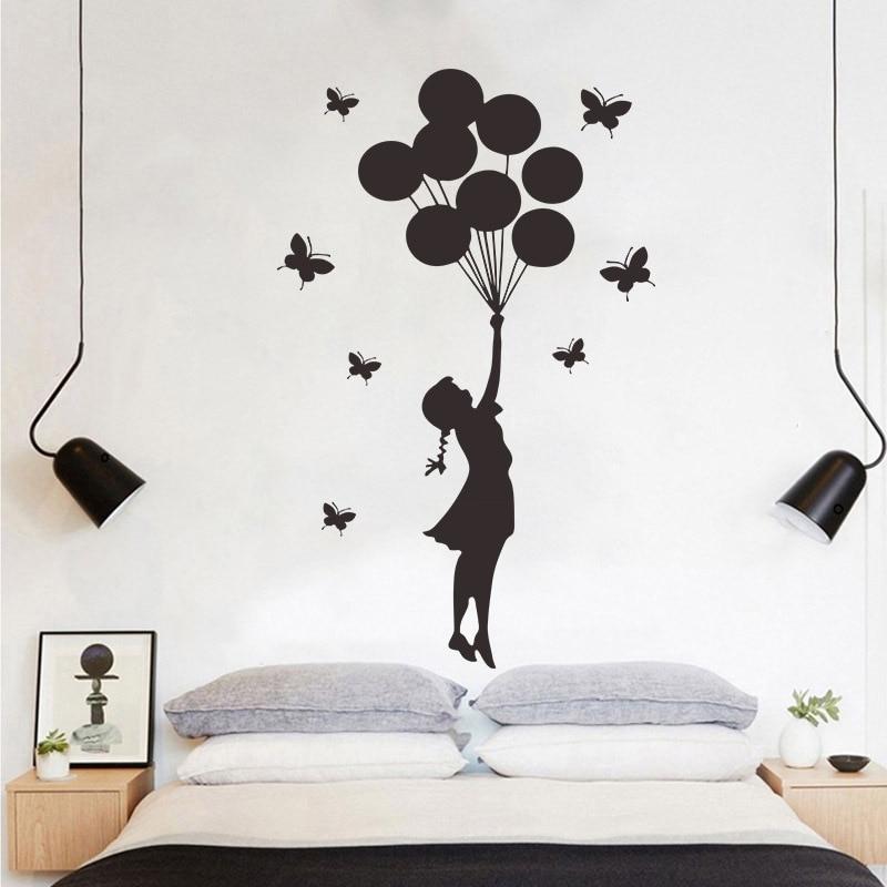 Balloons Photo Frame Love Vinyl Decal Wall Sticker for Kids BedRoom Living room