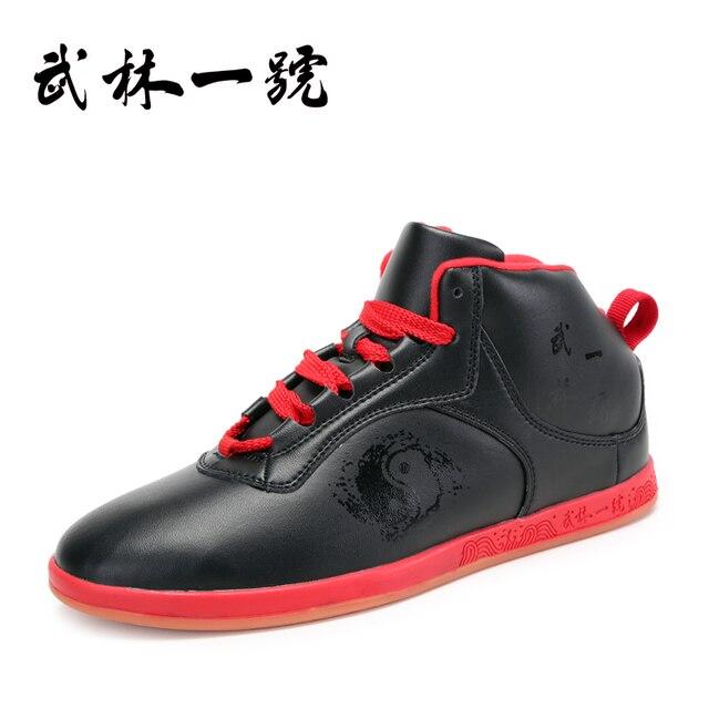 Зима мягкая кожа Тай-Чи обувь реальные кожаные боевых искусств обувь, тхэквондо, размер 34-45, Удобный и прочный теплый Примечание размер