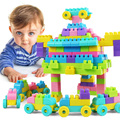 Hot sale 135 pcs/set Children's plastic building blocks assembled large particles boys and girls baby educational toys