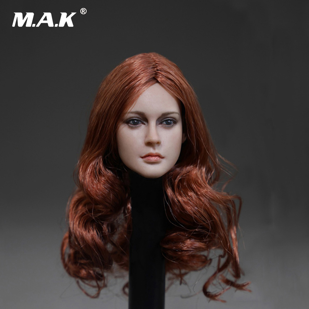 1:6 Scale Accessories Female Head Sculpt Girl with Long Curly Hair for 12 Inches DSTOYS HT PH Action Figure 1 6 scale asian female head sculpt with black long hair models toys for 12 female action figure