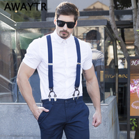 108cm 2017 Fashion H Shape Elastic Suspenders Striped Adjustable Braces For Men Shirt Suspenders For Women