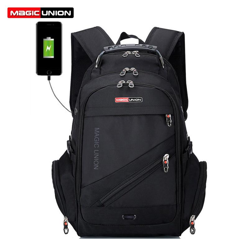 Image 2 - MAGIC UNION Hot Sale Mens Travel Bag Man Swiss Backpack  Polyester Bags Waterproof Anti Theft Backpack Laptop Bag Menwaterproof  schoolbagschildren school bags boychildren school