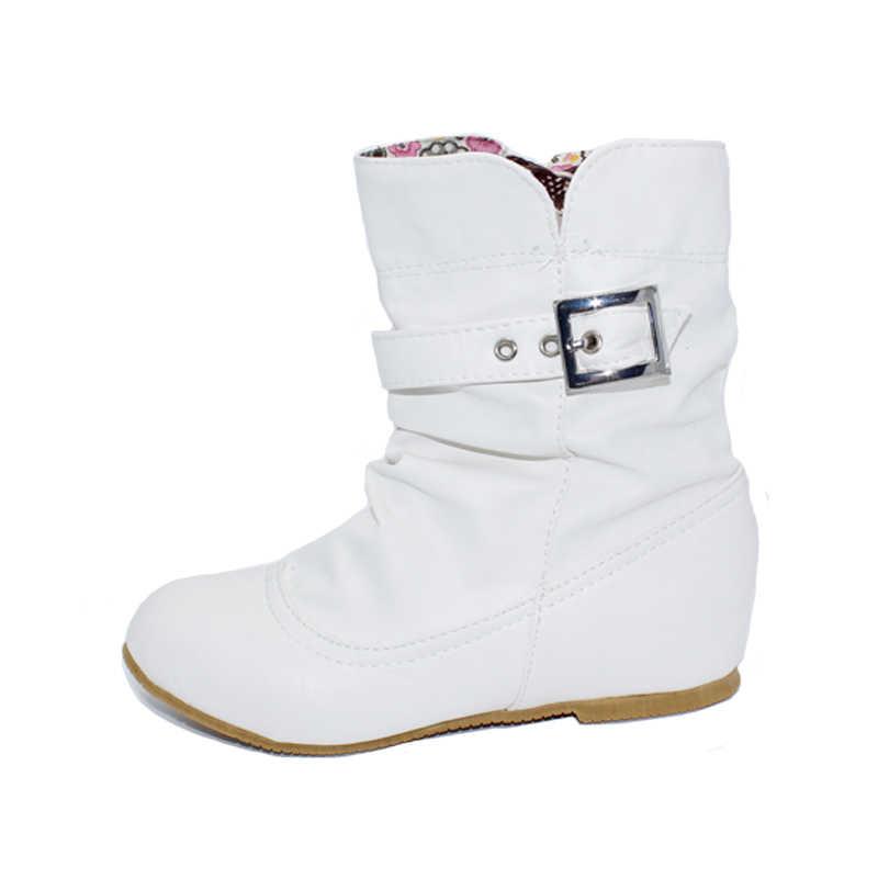 Karinluna kadın ayakkabı büyük Boy 34-43 sonbahar kış kadın çizmeler ayakkabı kadın Bayan tatlı Ruffles Toka kısa çizmeler kadın ayakkabı