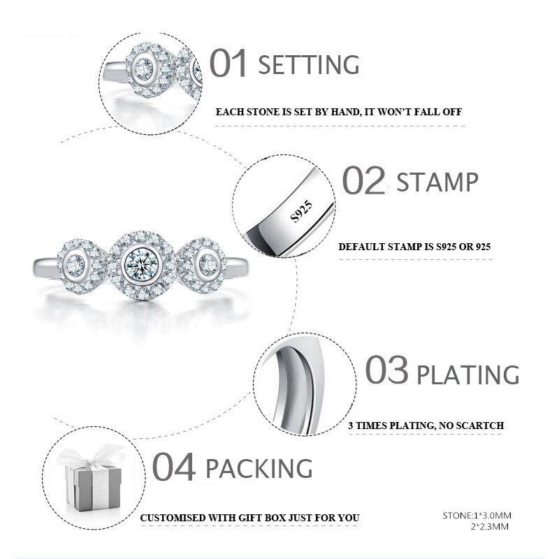Sona 가짜 고급 조각 반지 s925 스털링 실버 다이아몬드 맞춤 반지 결혼 반지 925 캐럿 선명도-에서반지부터 쥬얼리 및 액세서리 의  그룹 2