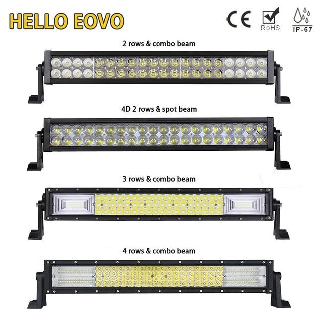 HELLO EOVO 22 Inch LED Light Bar for Off Road Indicators Work Driving Offroad Boat Car Truck 4x4 SUV ATV Fog Combo 12V 24V