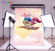 SHENGYONGBAO Vinyl Custom  Photography Backdrops Prop Shimmer and shine Cartoon Theme Background SS-00026