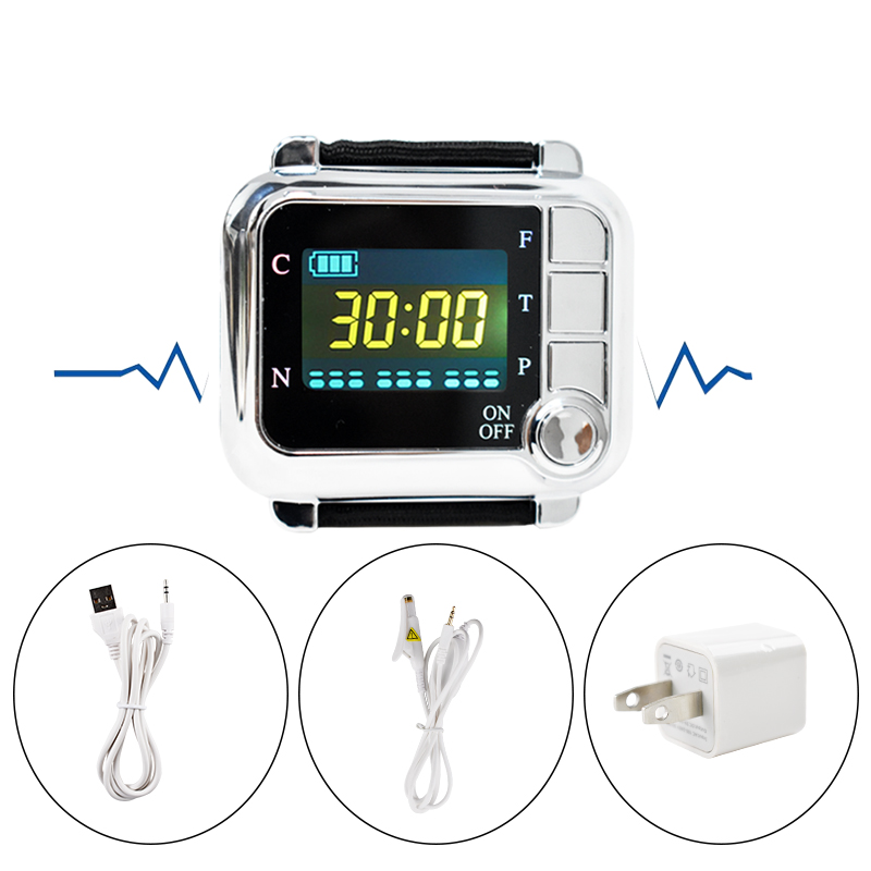 CE Laser Physiotherapy 650nm Diode Laser Light Low Level Laser Therapy LLLT for Diabetes Hypertension High Blood Treatment Watch