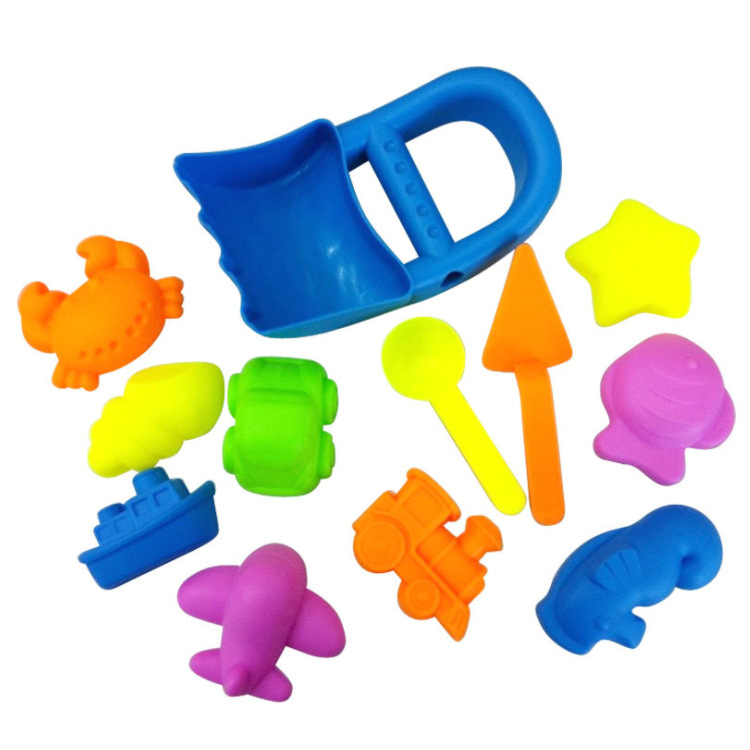12pcs/set Tiny Love For Children Summer Game Beach Toys SandBox Set Sea Sand Bucket Water Table Play Swimming Pool Shovel Molds