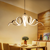 2018 Hanglamp Lampara Lampen современные светодиодные простой открытый подвесной светильник приспособления для Гостиная блеск приостановлено лампы ул