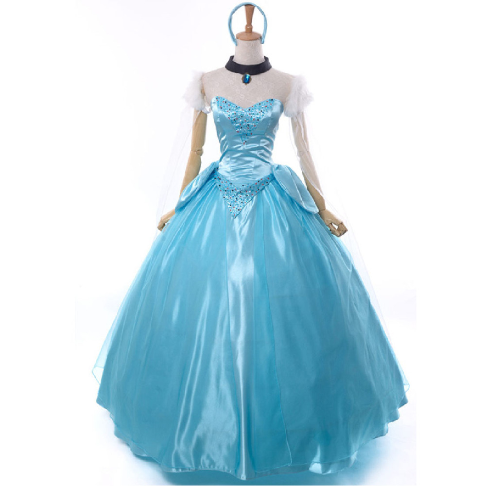 buy cinderella costume women adult princess cinderella dress halloween costumes. Black Bedroom Furniture Sets. Home Design Ideas
