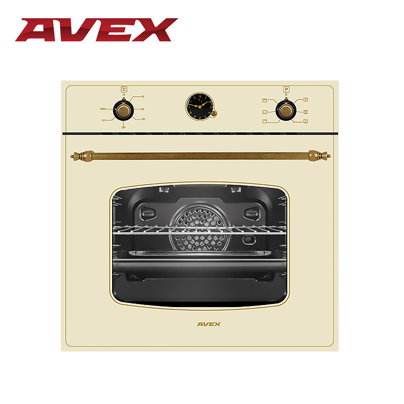 Built-in electric oven with convection AVEX HM 6360 YR mixed convection in porous media with heat source sink