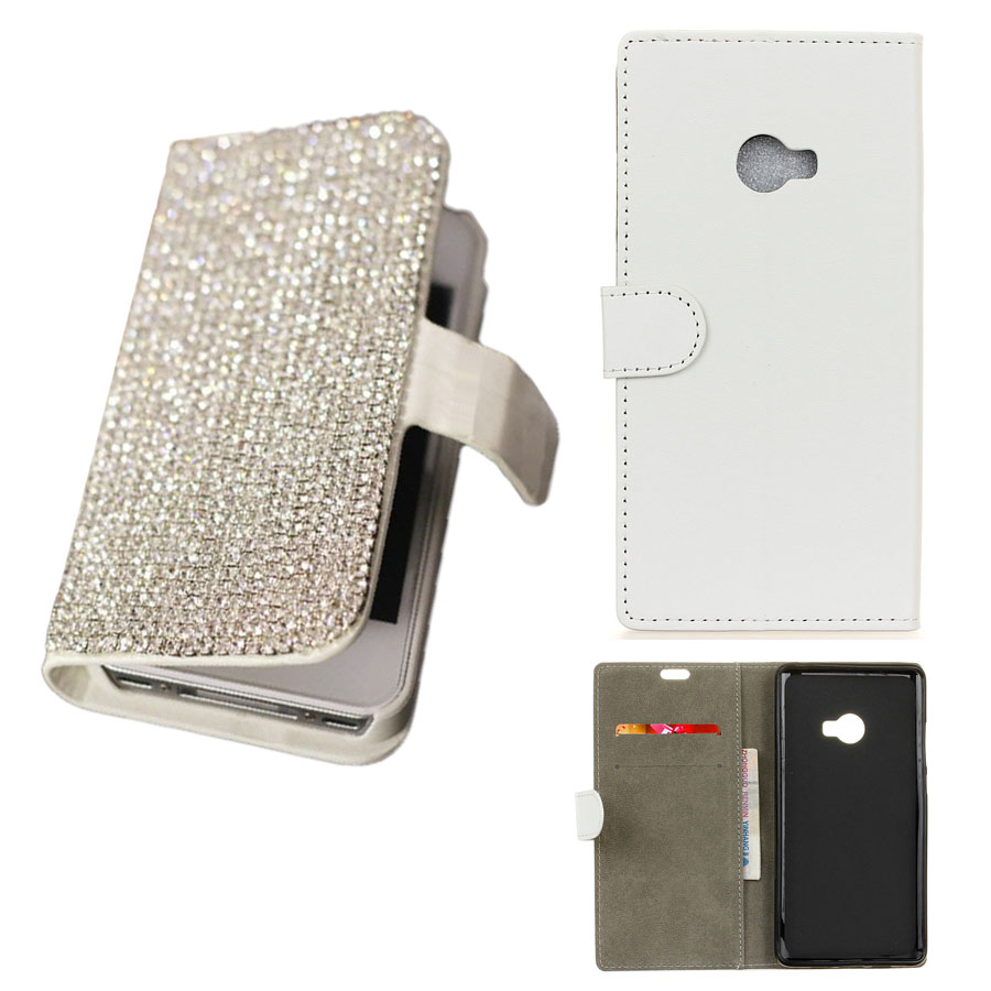 Girl Lady DIY Rhinestone Box Bling Chain PU Leather Stand Flip Wallet Phone Back Case Cover For Xiaomi Mi Note 2 with card slot