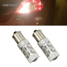 2PCs 1156 P21W BA15S BAU15S BAY15S 50W DRL Turn Signals Tail Reverse LED Light White/Amber/Red Top Quality