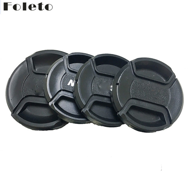 Foleto Lens Cap Cover Snap On Center Pinch Lens Protective 49 52 55 58 62 67 72 77 82mm for Canon Nikon Sony a Pentax 60D 500D