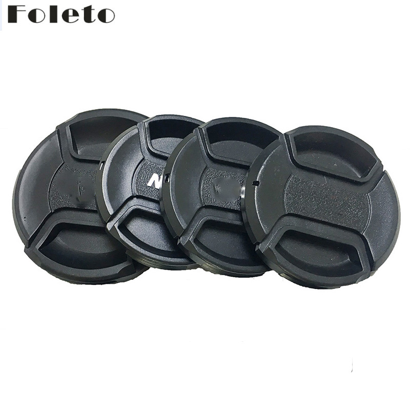 Foleto Lens Cap Cover Snap On Center Pinch Lens Protective 49 52 55 58 <font><b>62</b></font> 67 72 77 82mm for Canon Nikon Sony a Pentax 60D 500D image