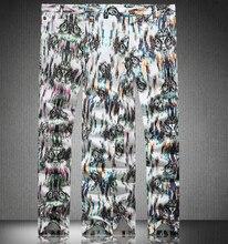 Горячие продажи Моды Европейский и Американский Стиль цветочный печати jeansnew тонкий карандаш брюки
