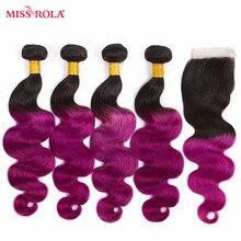 Miss Rola font b Hair b font Ombre Peruvian Body Wave font b Hair b font