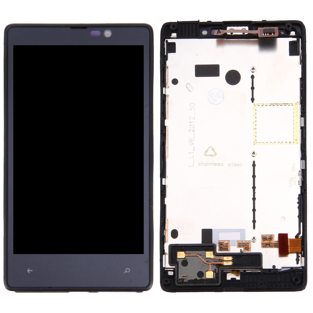 LCD Display + Touch Panel with Frame for Nokia <font><b>Lumia</b></font> <font><b>820</b></font> image