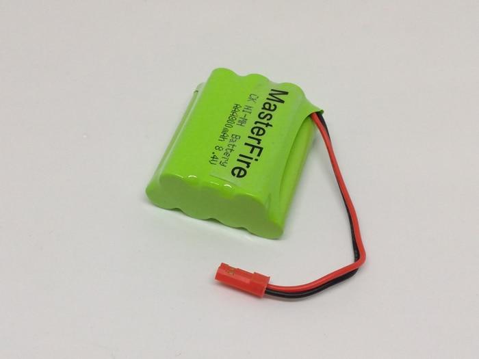 MasterFire 10 pacote/lote Nova 8.4V 800mAh AAA NI-MH Bateria Recarregável NiMH Baterias Pack com o plug