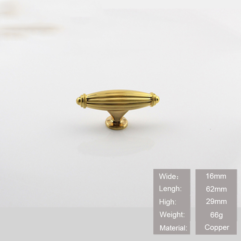 Furniture Brass Knobs Cabinet Knobs and Handles 100% Copper Kitchen Drawer Cabinet Pull Handle CT-105