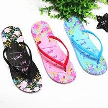 купить Fashion Slippers Beach Flip Flops Flowers Sandals Slip On Slides Indoor Home Slipper Shoes Woman Flat With Casual Shoes Female по цене 221.69 рублей