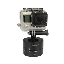 Time Lapse Stabilizer Photography Aluminum Panning 360 Degrees Rotating Tripod Head Adapter for Gopro Hero 7/6/5/4/3/3+/2/1