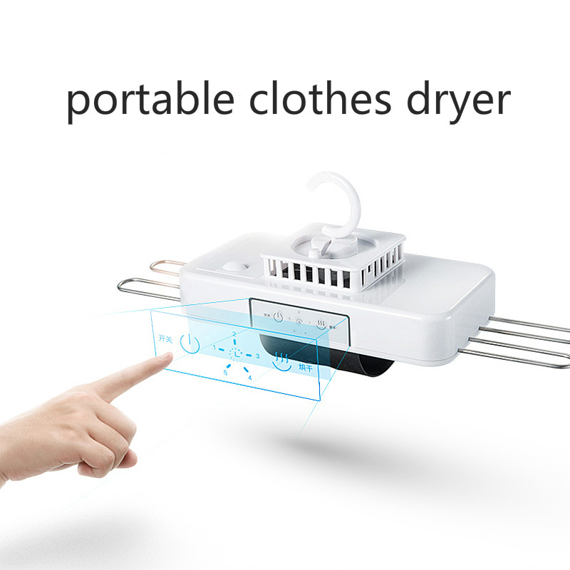 Portable Mini Clothes Dryer Machine with Hanger Rack Quick Dry Business Trip Mini Foldable Sock Shoe Underwear Dryer portable electric shoe dryer foldable clothes dryer boot dryer with hot cold wind 2 mode durable foldable mini dryer