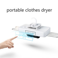 Portable Mini Clothes Dryer Machine with Hanger Rack Quick Dry Business Trip Mini Foldable Sock Shoe Underwear Dryer