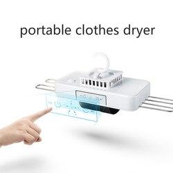 Portatile Mini Asciugatrice Macchina con Gancio Cremagliera Quick Dry Viaggio di Lavoro Mini Pieghevole Scarpa Calza Biancheria Intima Asciugatrice