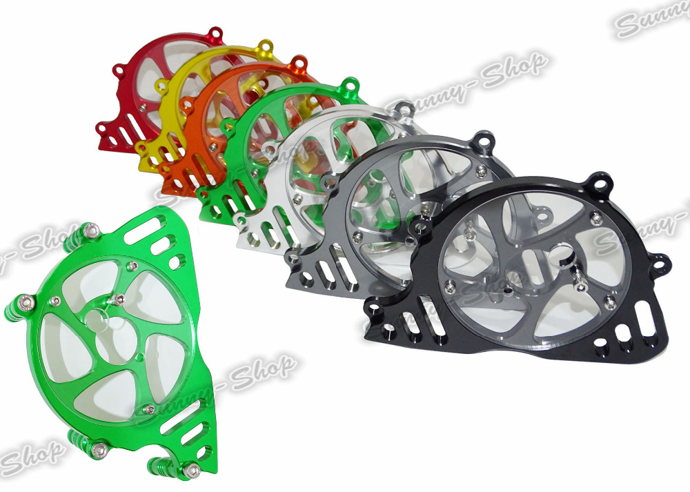 waase CNC Aluminum Front Sprocket Chain Guard Cover Left Side Engine For Kawasaki Z1000 2010 2011 2012 2013 motorcycle radiator protective cover grill guard grille protector for kawasaki z1000sx ninja 1000 2011 2012 2013 2014 2015 2016